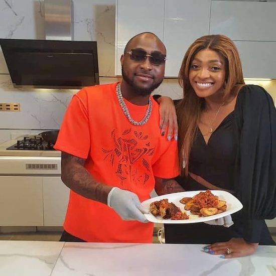 Davido shows his cooking skills as he makes one of his mom's recipes