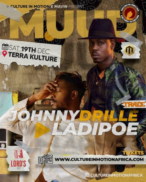 Johnny Drille and Ladipoe to perform live at Terra Kulture