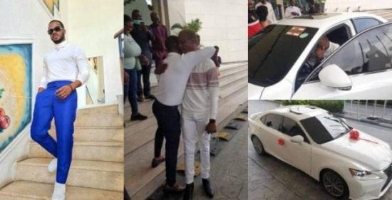 Korede Bello surprises His Manager with A New Car As a Birthday Present