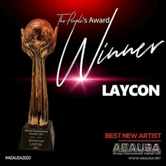 Laycon Wins Best New Artist at AEAUSA2020
