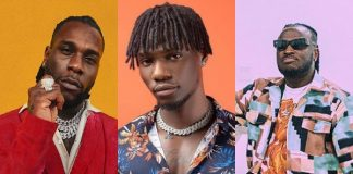 """Burna Boy reacts as Twitter user claims Yonda and Peruzzi wrote two songs on """"African Giant"""""""