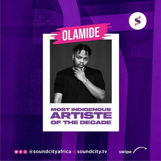 Olamide named as Most Indigenous Artiste of the Decade