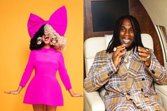 """Sia set to release her new single, """"Hey Boy!"""" featuring Burna Boy"""