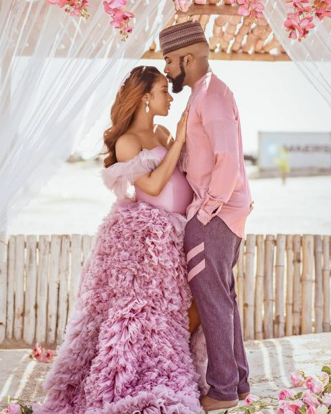 Singer Banky W and wife his Adesua Etomi welcome first child