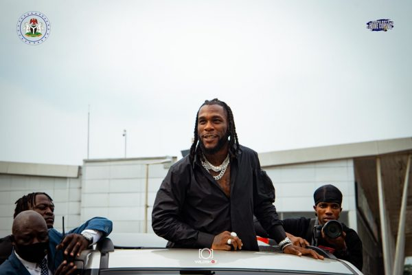 Burna Boy gets conferred With 'Distinguished Service Star' Award After Historic Grammy Win