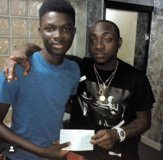 Davido reacts as student who he helped sponsor graduates with first class