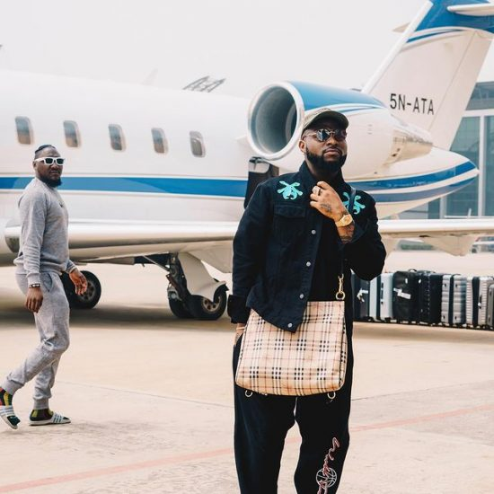 Davido shares throwback picture of his mother and father