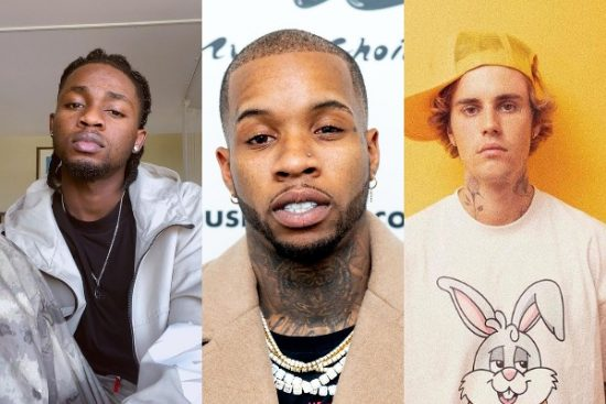 Omah Lay gets recognition nods from Tory Lanez and Justin Bieber