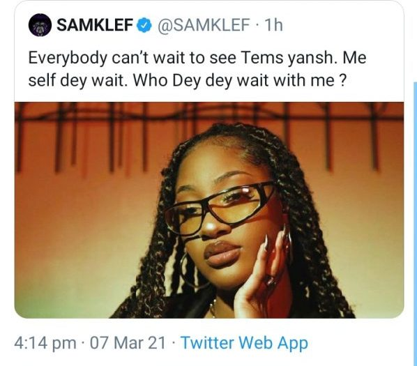 Simi reacts to Samklef insensitive remarks about Tems