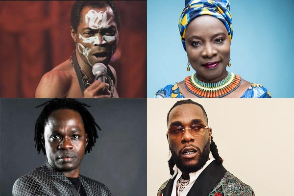 African artists with an entry on Billboard's Artist Year-End Chart