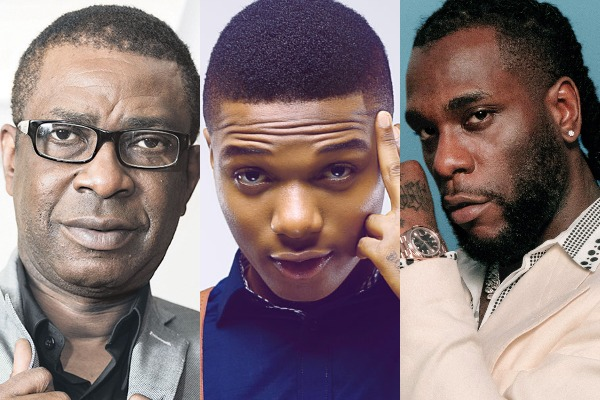 African artists with an entry on the US Billboard Hot 100
