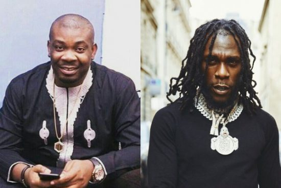 Burna Boy and Don Jazzy spotted together in the studio