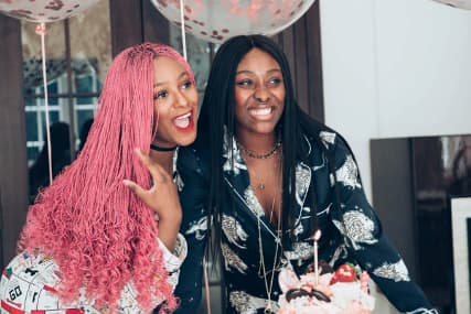 DJ Cuppy celebrates her sister, Tolani on her birthday, flaunts her Father's house
