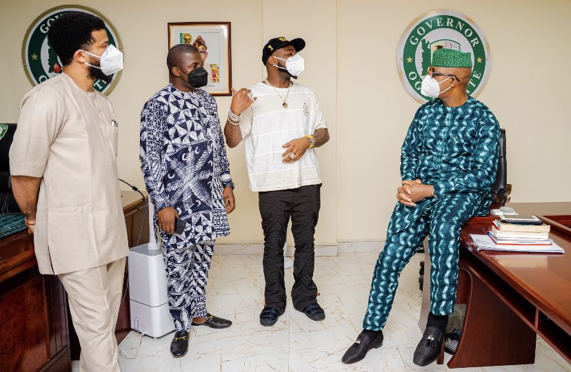 Davido paid a visit to the Governor of Ogun state