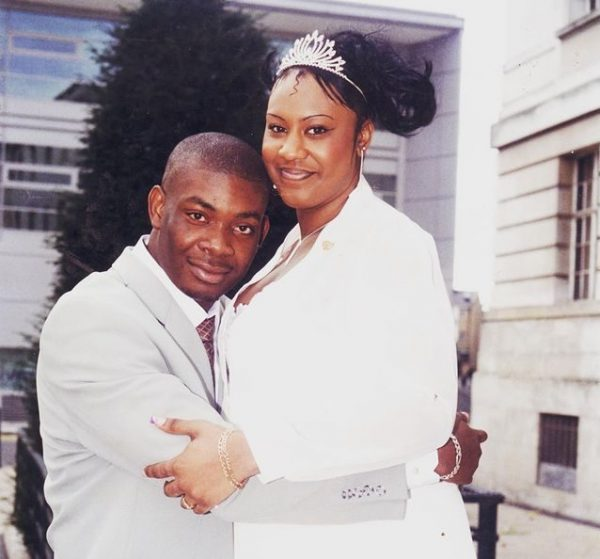 Donjazzy's ex wife, Michelle, explains why she was taller than him in their wedding picture