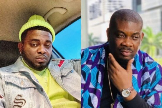 Kelly Hansome accuses Don Jazzy of once arresting him and his girlfriend with SARS