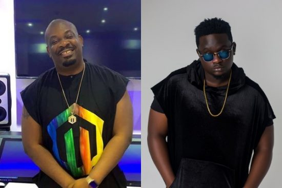 Hit Alert? Wande Coal spotted with Don Jazzy in the studio