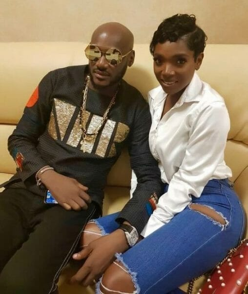 Annie Idibia makes 2Baba blush as she showers him with sweet words