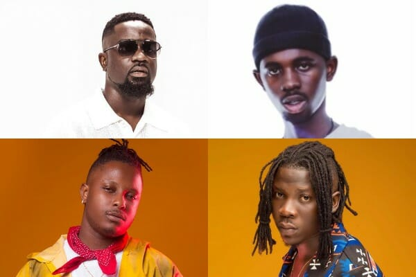 Black Sherif, Sarkodie, and Stonebwoy's songs are among the best Ghanaian songs of the month