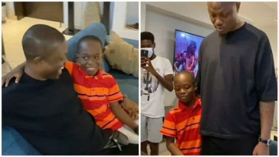 Vector surprises kid who cried because he couldn't get an autograph from him