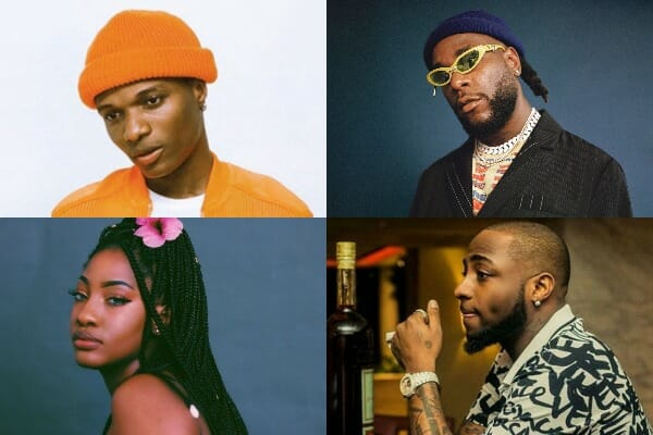 most streamed Nigerian Afrobeats artists on Spotify (Aug. 4, 2021)
