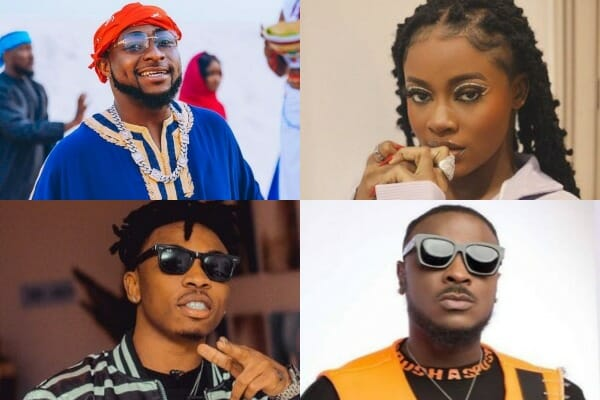 Check out all the artistes signed to Davido music worldwide (DMW)