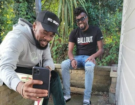 Patoranking and Beenie Man spotted in the studio