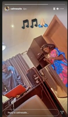 Trending Artist, Salle spotted in the studio working on new music