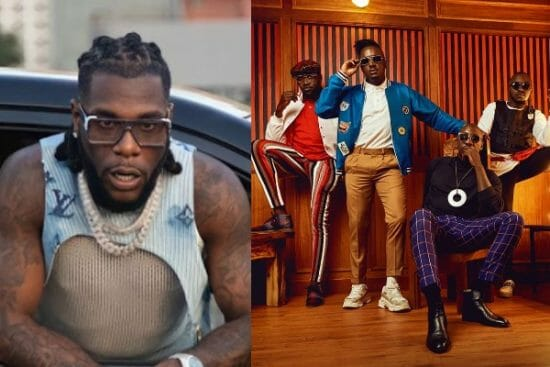 """Burna Boy reacts as Sauti Sol receive Grammy certification for """"Twice as Tall"""""""