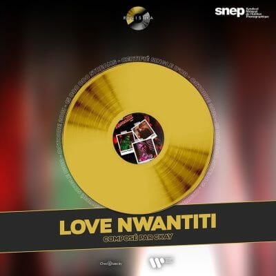 'Love Nwatiti' by CKay has receives gold certification in France