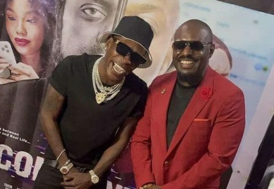 Shatta Wale links up with Jim Iyke days after referring to him as his twin
